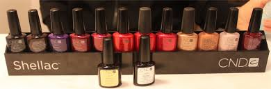 cnd shellac manicure at the angelo david salon the nail polish