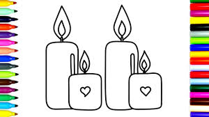 how to draw candles coloring pages candles for kids art colors