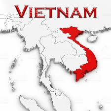 World Map Vietnam by 3d Map Of Vietnam With Country Name Highlighted Red On White
