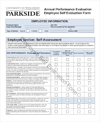 employee evaluation form example 11 free word pdf documents