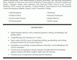 Special Education Teacher Resume Objective Download Special Education Resume Samples Haadyaooverbayresort Com