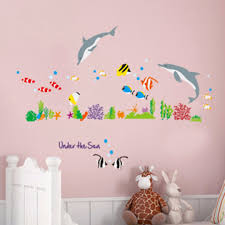 compare prices on dolphin bathroom decor online shopping buy low 1pc ocean dolphin fish decal mayitr kids bedroom wall stickers bathroom decor china