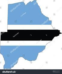 Botswana Flag Country Shape Outlined Filled Flag Botswana Stock Vector 128226779