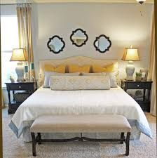 Headboard With Mirror by Bedroom Chic Quatrefoil Bedding In Bedroom Traditional With Beds