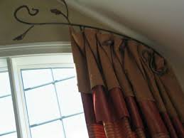 Arch Window Curtain Curtain Rods For Bay Windows Curved Windows Mccurtaincounty