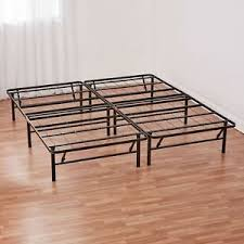 Metallic Bed Frame Mainstays 14 High Profile Foldable Steel Bed Frame With Bed