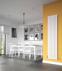 white horizontal radiators designer 600x1440mm gloss double panel