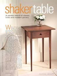 shaker end table plans shaker hall table from woodsmith custom woodworking s american style