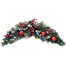 werchristmas pre lit decorated arch garland illuminated with 20
