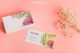 Business Card Mockup Psd Download Floral Business Card Mockup Psd File Free Download