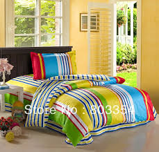 Kids Bedding Sets For Girls by Free Shipping Colorful Striped Twin Kids Bedding For Boys And