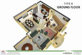 rehabilitation center floor plan small villa