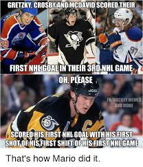 Hockey Memes - gretzky crosby andmcdavid scored their first nhl goalin their 3rdnhl