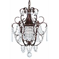 Chandelier Bathroom Lighting Crystal Mini Chandelier Pendant Light In Bronze Finish 2233 220