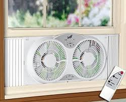 electrically reversible twin window fan amazon com portable twin 9 reversible window fan with remote