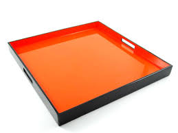 orange lacquer orange lacquer tray orange lacquer trays orange