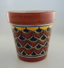 Handmade Mexican Pottery - mexican ceramic flower pot planter folk pottery handmade