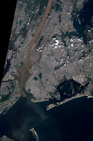 Hudson River Map Sediment Plumes In The Hudson River Natural Hazards