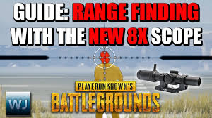 pubg 8x scope range pubg guide how to range find with the new 8x scope xstream gamer