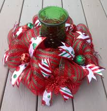 mesh ribbon table decorations 16 red and green deco mesh christmas centerpiece mesh centerpiece