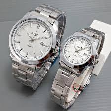 Jam Tangan Alba jam tangan alba rantai putih plat putih dunianet
