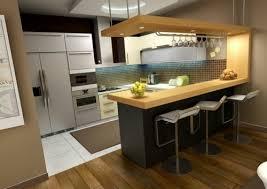 cuisine avec comptoir 68 idées pour un comptoir de cuisine en bois design