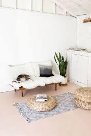 white home interior industrial minimal inspiration sheep skin