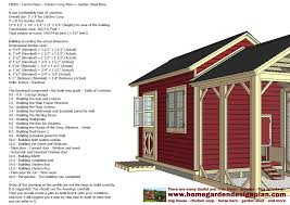 Plans To Build A Wooden Shed by Home Garden Plans Cb200 Combo Plans Chicken Coop Plans