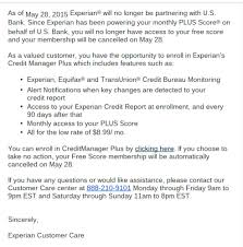 experian credit bureau us bank removes free experian fako promises another