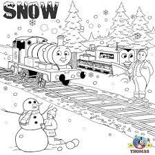 thomas percy tank engine frosty snowman free printable