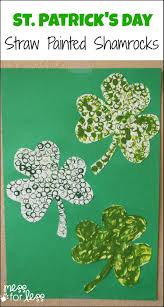 Shamrock Decorations Home St Patrick U0027s Day Straw Art Activity Mess For Less