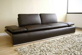 Sofa Modern Brown Leather Winafrica - Hard sofas