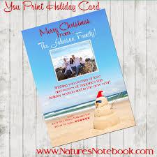 coastal christmas card personalized christmas card sea