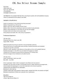 sample resume for auto mechanic school bus driver resume examples free resume example and resume for driver sample of a divorce decree cdl bus driver resume sample with assured that