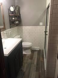 Rustic Bathroom Tile - picture of rustic and industrial basement bathroom bathroom tile