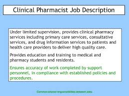pharmacy help desk job description ppt clinical pharmacist job description powerpoint presentation