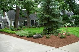 front yard landscaping red brick landscape blocks design house