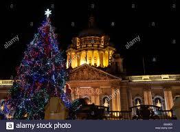 christmas tree and christmas lights at belfast city hall northern