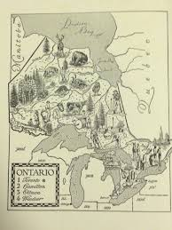 Map Of Ontario Canada by Ontario Map Wall Art Print Map Of Canada World Travel