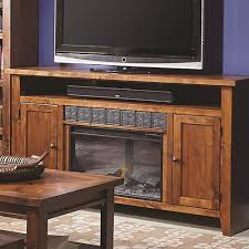Fireplace Console Entertainment by Aspenhome Alder Grove 2 Door Entertainment Console With Fireplace