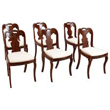 Antique Dining Chairs Set Of Six American Empire Antique Dining Chairs C 1830 Bonnin