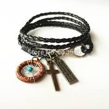 aliexpress buy new arrival cool charm vintage vintage braided bracelet leather multilayer bracelet wrap adjustable