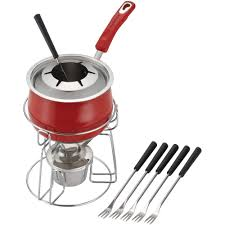 Stainless Steel Kitchen Set by Rachael Ray Stainless Steel Fondue Set Red Walmart Com