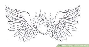 Hearts With Wings - 4 ways to draw a with wings wikihow