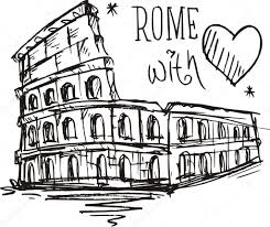 sketch colosseum in rome italy u2014 stock vector halimqd 39888031