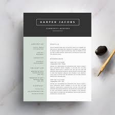Word Resume Cover Letter Template Modern Resume Template And Cover Letter Template For Word