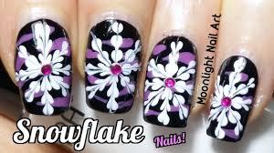 drag marble snowflake nail art tutorial youtube