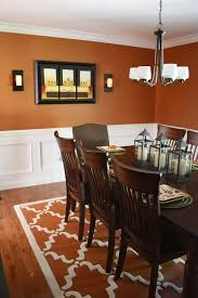 dining room best orange ideas on pinterest with chair rail paint