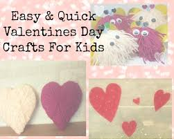 easy u0026 quick valentines crafts for children kids craft