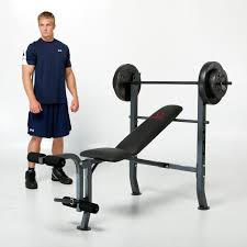 marcy diamond standard bench with 80 lb weight set hayneedle